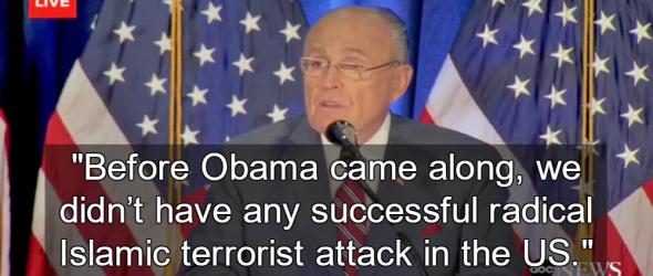 Giuliani: No Terror Attacks On U.S. Soil Before Obama