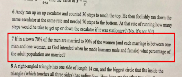Math Test Claims 'God Intended' People To Be Straight