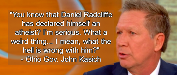 Ohio Governor Attacks Daniel Radcliffe For Being An Atheist