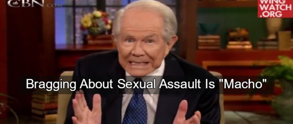 Pat Robertson Defends Trump: Bragging About Sexual Assault Is 'Macho'