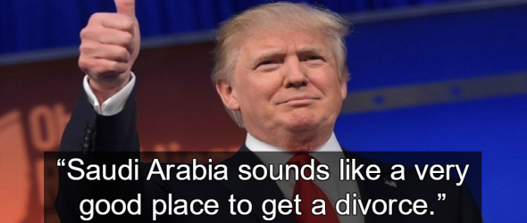 Trump Praised Sharia Because Men Have Advantage In Divorce