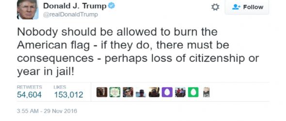 Trump: Forget Constitution, Punish Flag-Burners