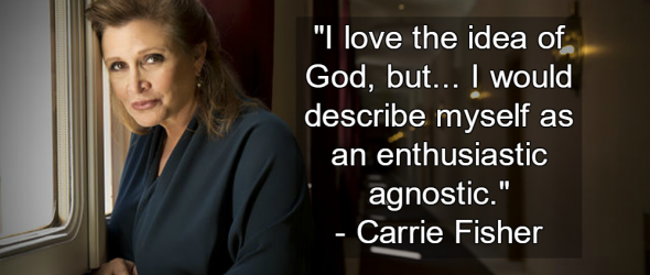 In Memoriam: Carrie Fisher, Actress, Author, Humanist