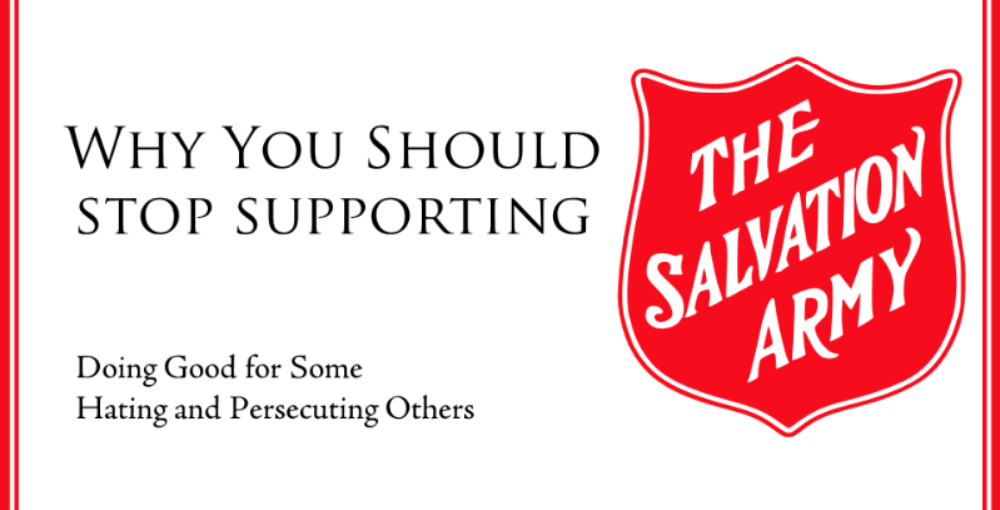 Salvation army anti gay