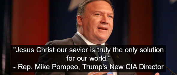 Trump CIA Pick: Dangerous Christian Extremist