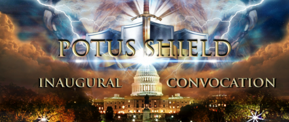 Goofy Christians Create 'POTUS Shield' Around Trump For Inauguration