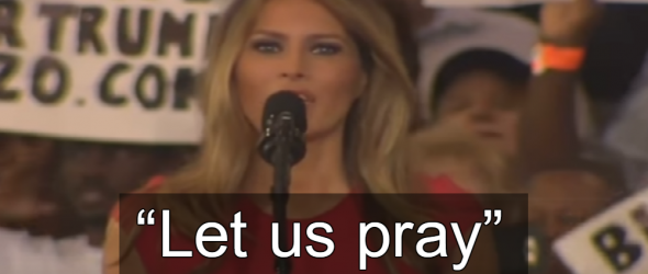 Melania Trump Opens Fascist Rally With Prayer