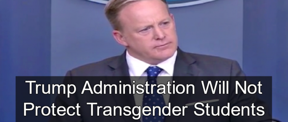 White House: States Can Discriminate Against Transgender Students