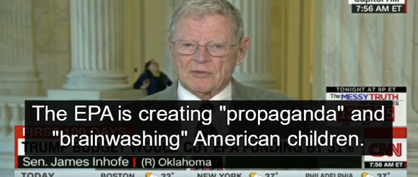 GOP Senator Claims EPA Is 'Brainwashing Our Kids'