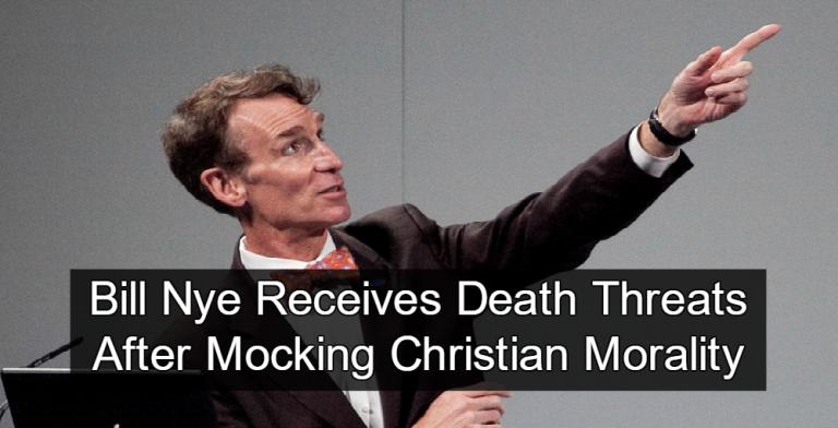 Bill Nye Receives Mocks Christian Morality (mage via Wikipedia)