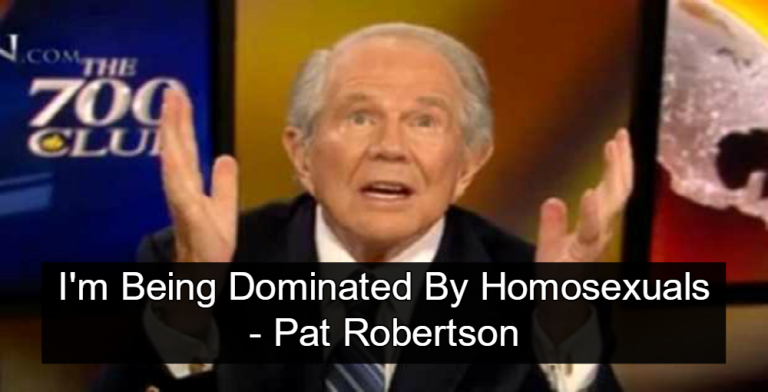 Pat Robertson Complains About Being Dominated By Homosexuals (Image via Screen Grab)
