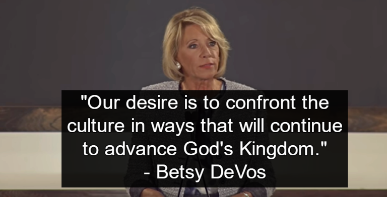 DeVos Education Budget Cuts Public Education To Fund Religious Schools (Image via YouTube)