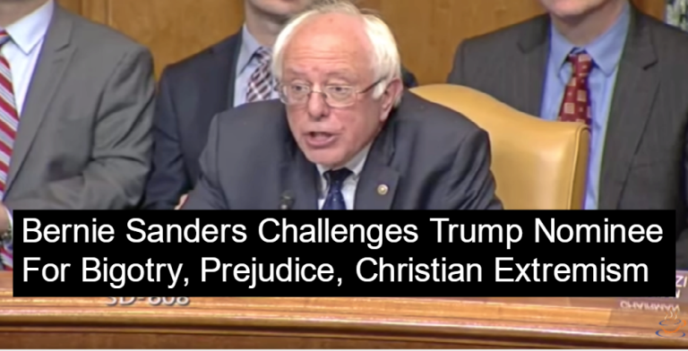 Bernie Sanders Criticizes a Trump Nominee Over Statement on Muslims