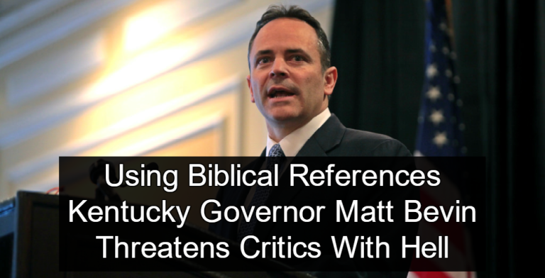 Kentucky Governor Matt Bevin Claims Critics Will Burn In Hell (Image via Flickr)