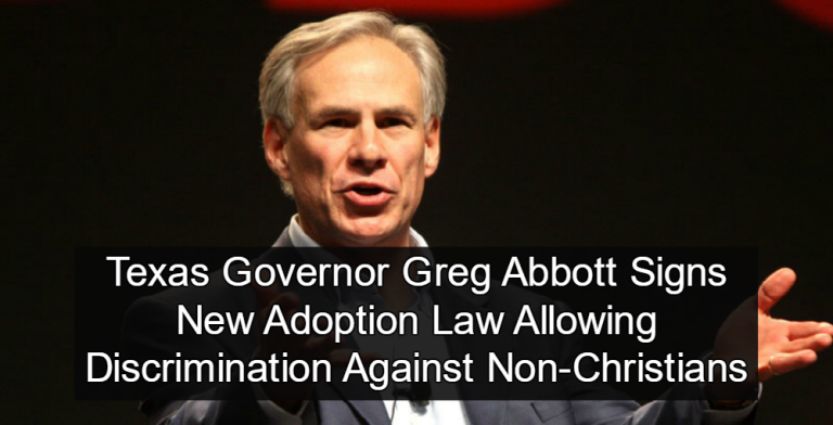 Texas Governor Signs Christians First 'Religious Freedom' Adoption Law (Image via Flickr)