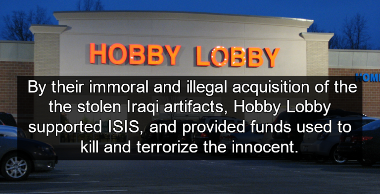 Hobby Lobby Caught Smuggling Black Market Iraqi Artifacts (Image via Wikipedia)