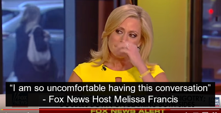 Fox Host Melissa Francis Cries Because People Think She's Racist For Defending Trump (Image via Screen Grab)