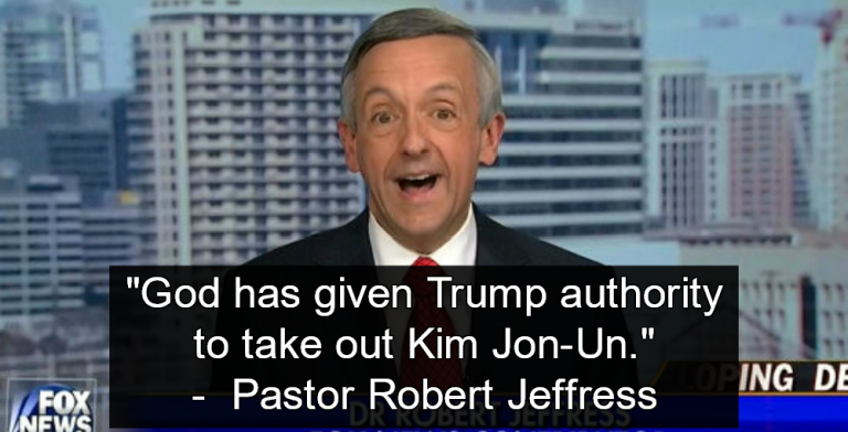 Pastor Says God Gives Trump 'Authority to Take Out Kim Jong Un'