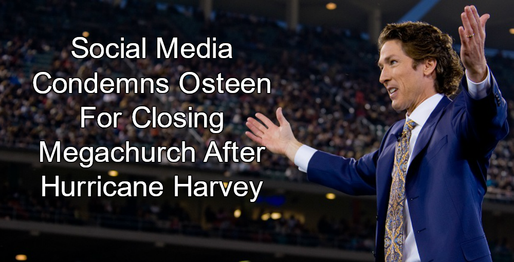 Joel Osteen rejects reports he shut church to Harvey victims