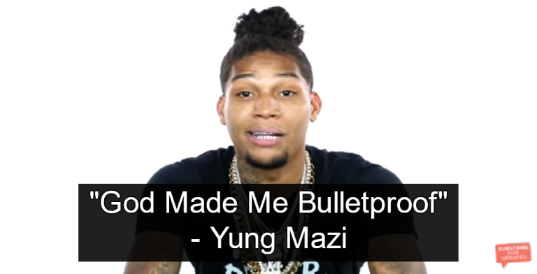 "Rapper Yung Mazi - ""'God Made Me Bulletproof'"" (Image via screen grab)"