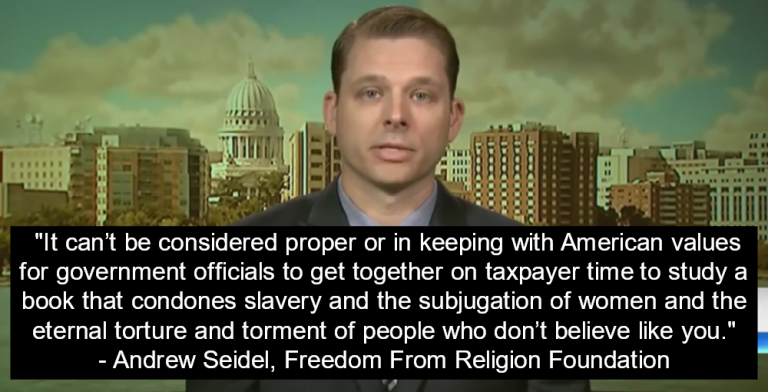 Andrew Seidel condemns White House Bible Study (Image via Screen Grab)