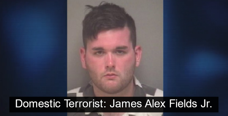 Domestic Terrorist: James Alex Fields Jr. (Image via Albermale County Jail)