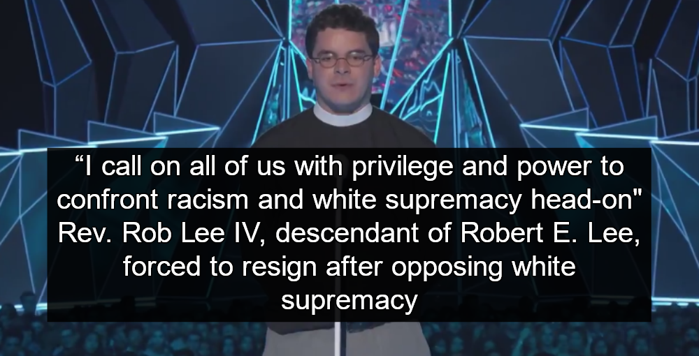 Lee Descendant Forced Out Of Church After Denouncing White Supremacy on MTV (Image via Screen Grab)