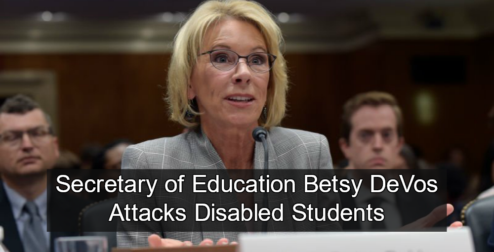 DeVos Dismantles Rights For Disabled Students Guidelines (Image via Twitter)