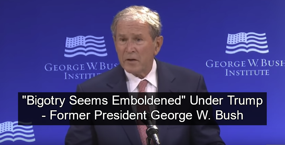 Bush Slams Trump For 'Bullying and Prejudice' (Image via Screen Grab)