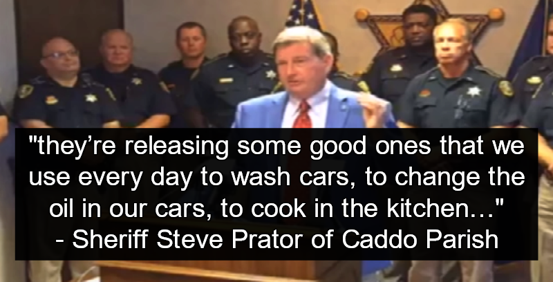 Slave Labor: Louisiana Sheriff Steve Prator Laments Release Of 'Good' Prisoners (Image via Screen Grab)