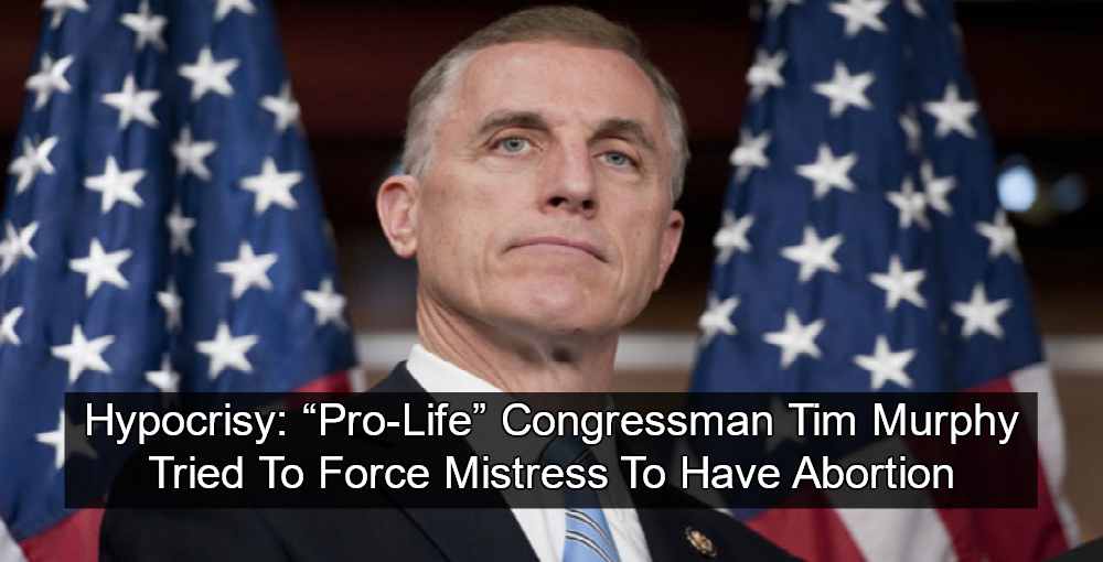 Rep. Tim Murphy Impregnated Mistress, Urged Abortion In Texts