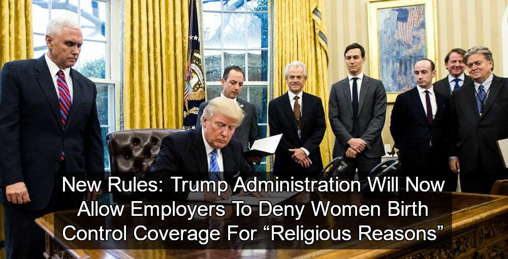 Trump admin to reverse birth control mandate