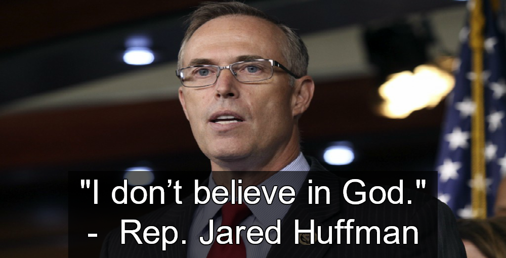 Congressman Jared Huffman Is Good Without God (Image via YouTube)
