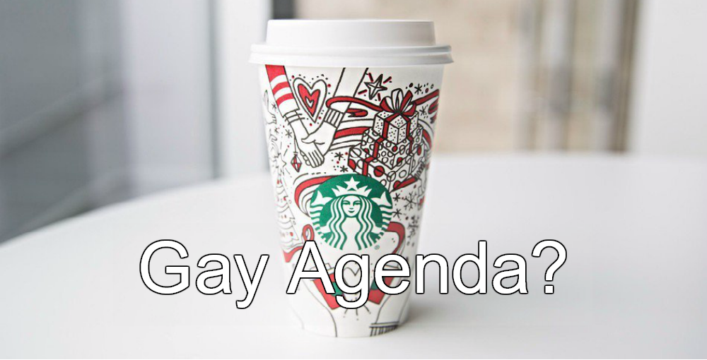 Fox News Warns Starbucks Holiday Cups Promote 'Gay Agenda' (Image via Twitter)