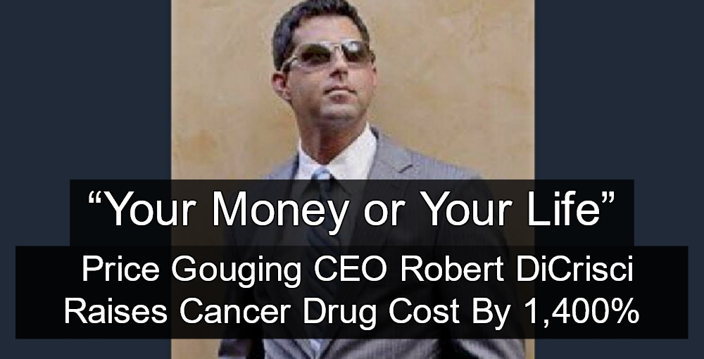 40-year-old Cancer Drug Price Increased 1400% By New Owners