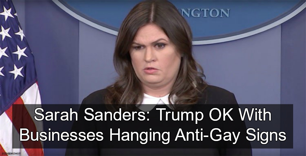 Sanders goes off on the media at White House press briefing