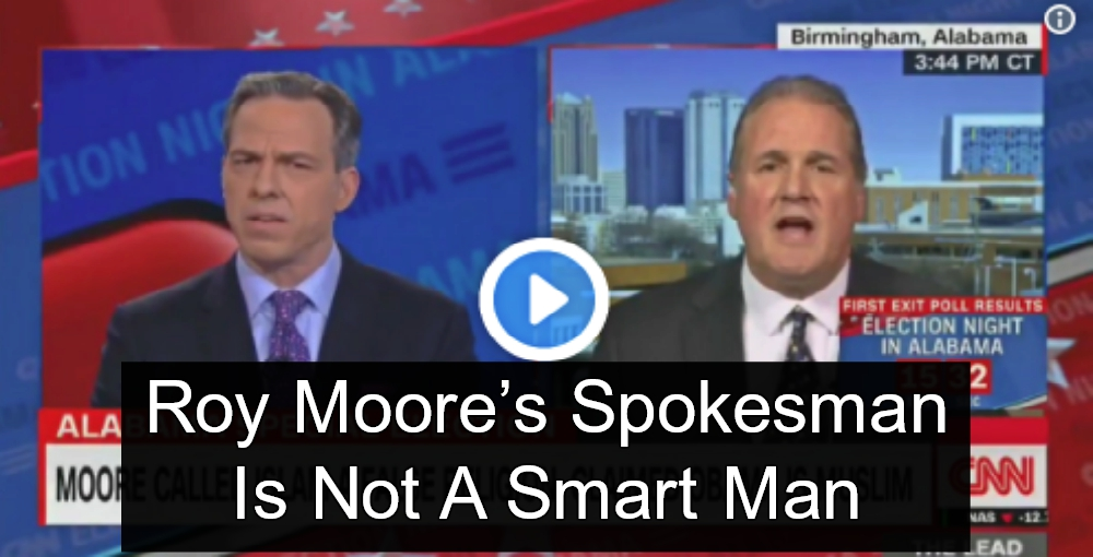 Roy Moore Spokesman Claims Lawmakers Must Swear On Christian Bible (Image via Screen Grab)