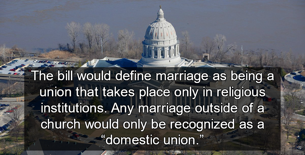 Missouri Bill Would Restrict Marriage To People Of Faith (Missouri State Capitol image via Wikimedia)