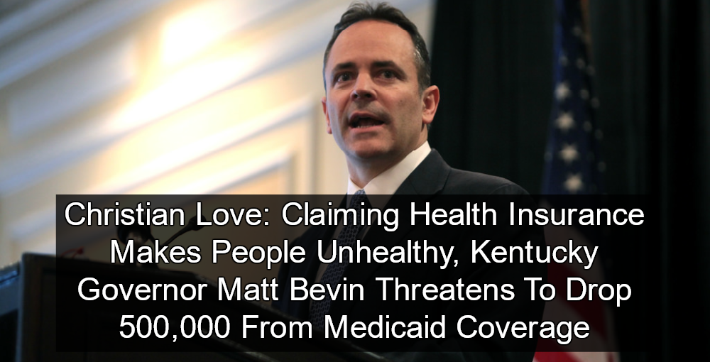 Kentucky Governor Matt Bevin Claims Health Insurance Makes People Unhealthy (Image via Flickr)