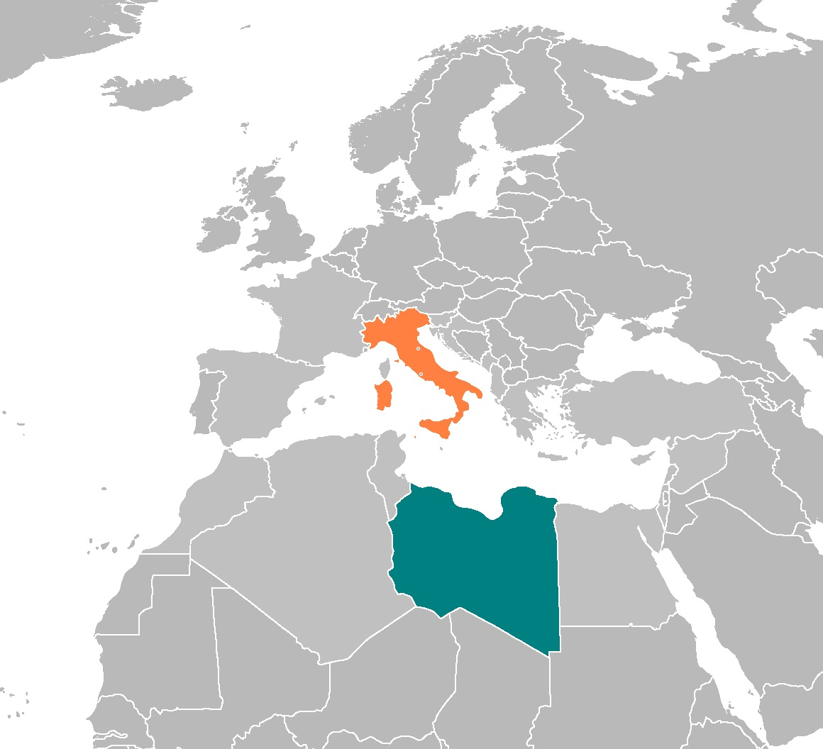 Italy and Libya. Photo Source: Wikimedia Commons