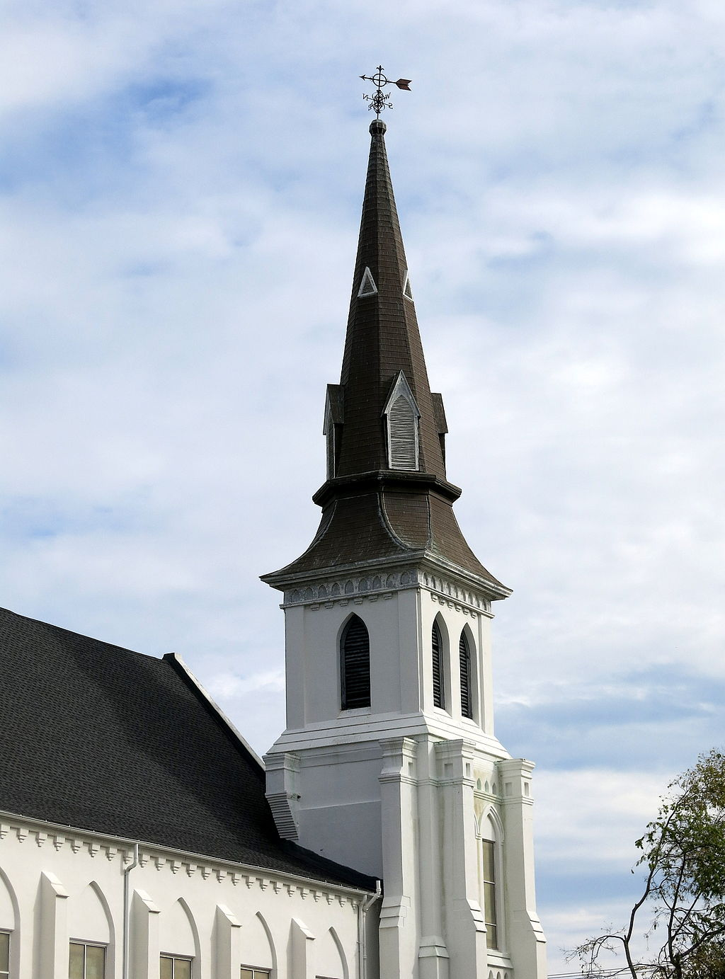 Emanuel African Methodist Episcopal Church Charleston. Photo Source Wikimedia Commons Wikimedia Share Alike License by By Spencer Means from New York City, USA [CC BY-SA 2.0 (http://creativecommons.org/licenses/by-sa/2.0)], via Wikimedia Commons