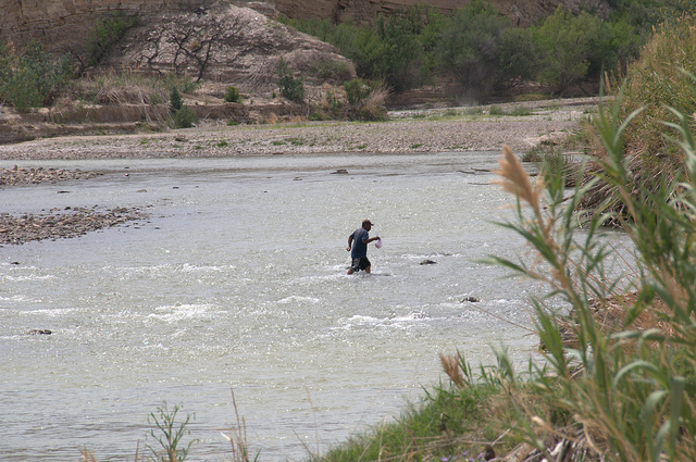 One way to bypass Customs; crossing the Rio Grande from Mexico Photo Source: Flickr Creative Commons by Brian Ralphs https://www.flickr.com/photos/birdbrian/
