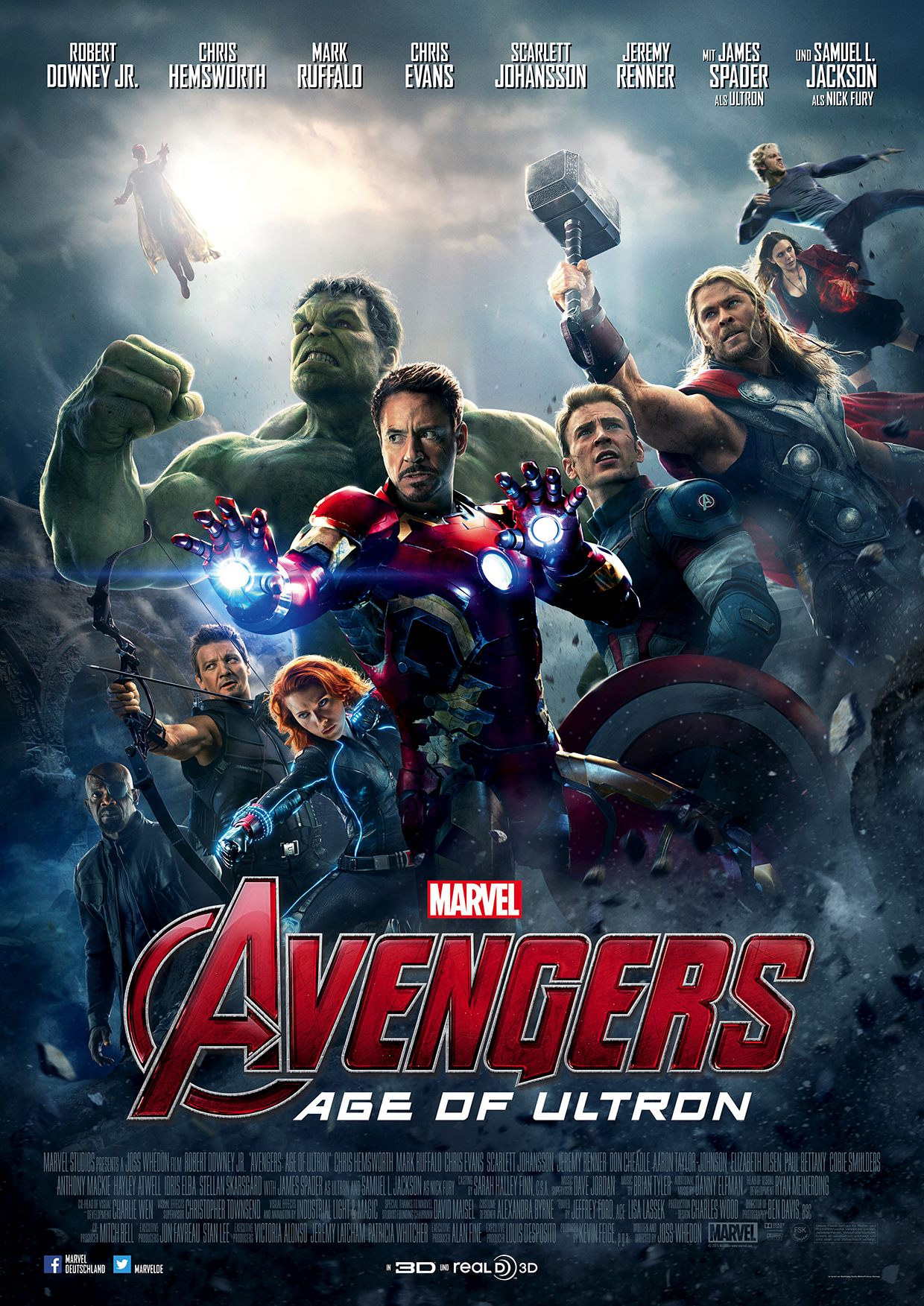 Avengers: Age of Ultron (2015) - 720p HD (Hindi Dubbed)