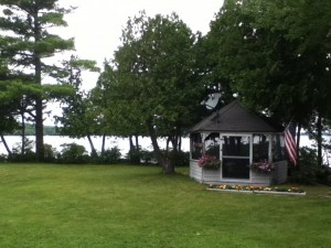 lake and gazebo