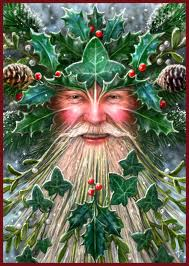 Deck the halls with the pagan symbol of the Holly King.  So very pagan!