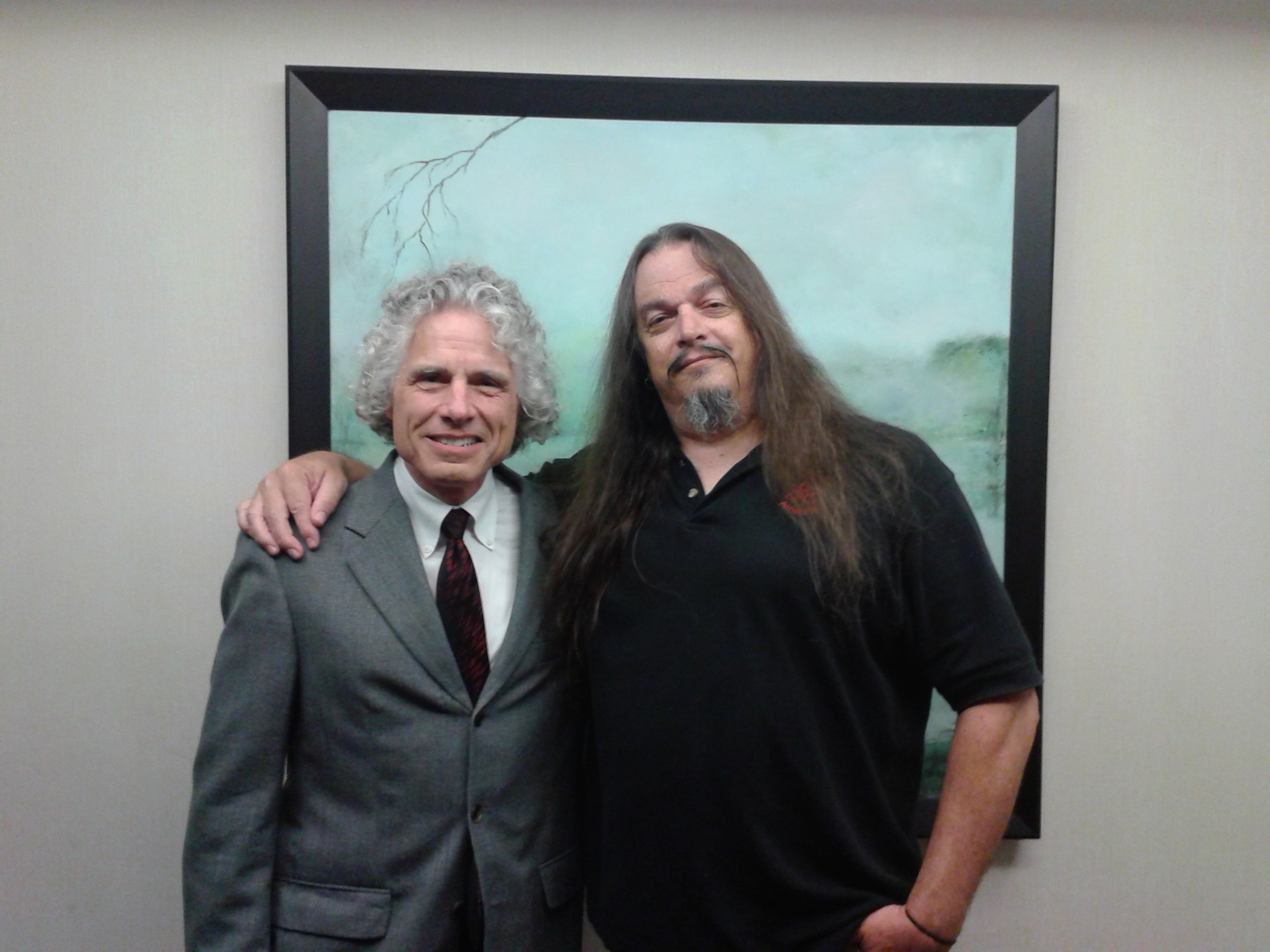Me and Prof Steven Pinker, just a couple hours before he received the Richard Dawkins award.