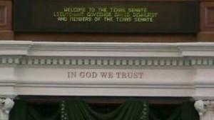 In God we Trust Texas Senate
