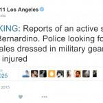 Report: Police Seeking 3 White Males in San Bernardino Shootings
