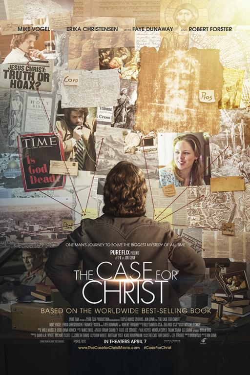 Mike Vogel and Erika Christensen star as Lee and Leslie Strobel in The Case for Christ, releasing for Pure Flix Entertainment April 7. Image courtesy of Pure Flix Entertainment.