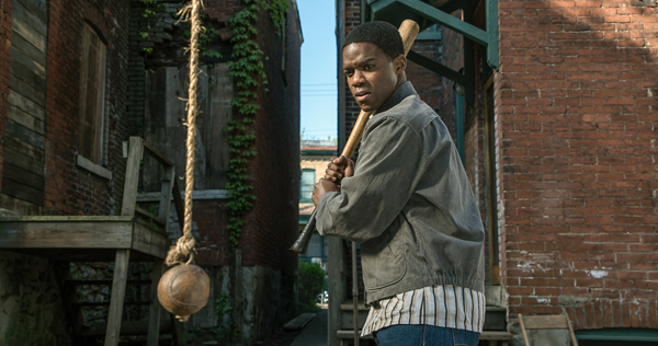 Jovan Adepo stars as Cory Maxson with Denzel Washington and Viola Davis in the Oscar-winning film 'Fences,' now available on Blu-Ray, DVD and Digital Home Video. Image courtesy of Paramount Pictures.